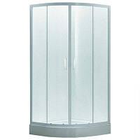 Душевая кабина 80*80*185 см, на мелком поддоне, профиль белый, стекло EGER TISZA Zuzmara (599-020/1)