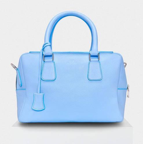 Удивительная кожаная сумка со съемным ремешком голубого цвета CHEMIRE Fidelitti 004/640/Lu