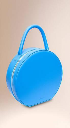 Оригинальная круглая сумка с короткой ручкой, натуральная кожа TONDO Fidelitti 019/660/Lu-T синий