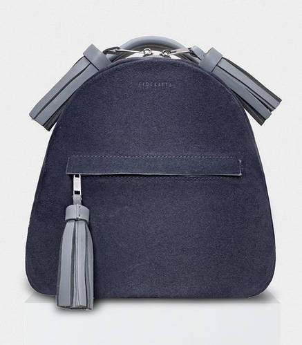 Рюкзак для девушки 6L из натуральной замши ZAINO GREY BY DOMANOFF Fidelitti 027/900-910/V-K серый