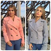 Пальто - пиджак двубортное Chanel кашемир на подкладке разные цвета SRm164