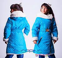 Детское пальто для девочки Овчинка