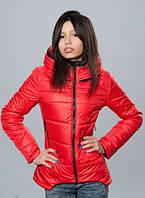 Яркая демисезонная женская куртка спортивного стиля