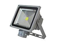 Светодиодный прожектор с датчиком движения (LED) ТМ Lemanso, LMPS-10, 10 Вт, 4000 и 6500 К