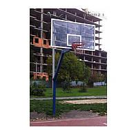 Стойка баскетбольная уличная с щитом из оргстекла 1800х1050мм ВВ0021
