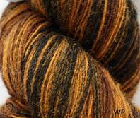 Цветная пряжа Кауни brown-black 800 Пряжа из 100% овечьей шерсти подходит для ручного вязания рукоделия