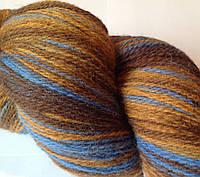 Овечья пряжа Кауни brown-blue 800 Пряжа из 100% овечьей шерсти подходит для ручного вязания рукоделия