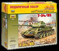 """Подарочный набор сборная модель Zvezda (1:35) Советский танк """"Т-34/85"""""""