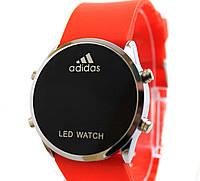 Спортивные часы Adidas LED WATCH, Адидас Лед красные
