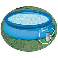 Бассейн надувной INTEX (366*76 см)  с насосом - фильтром 28132 (56422) Easy Set Pool