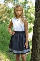 Костюм на девочку юбка и блузка вышиванка