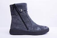 Женские замшевые ботинки на молнии