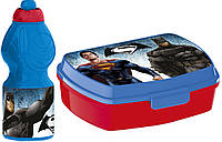Набор ланч-бокс и спортивная бутылочка Бэтмен против Супермена