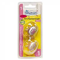 Соска детская силиконовая Babydream 1 0-6 месяцев, 2 шт