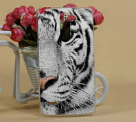 Чехол-накладка для LG Stylus G3 d690 с рисунком Белый тигр