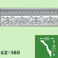 Потолочный плинтус Baraka Decor G2-160 (134*88)