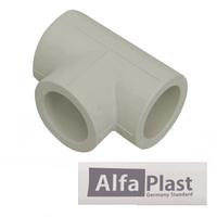 Тройник полипропилен PPR 50 мм Alfa Plast (равнопроходной)
