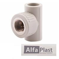Тройник полипропиленовый PPR 25*1/2 Alfa Plast (с внутр. резьбой)