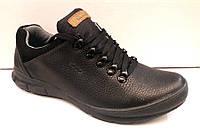 Туфли полуспорт мужские ECCO кожаные черные E0024
