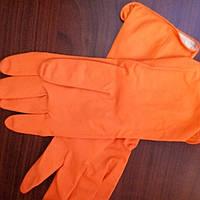 Перчатки хозяйственные оранжевые  Work and Care