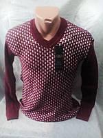 Молодежный вязанный мужской свитер 48-52 рр
