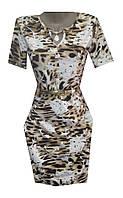 Платье женское с украшением леопард