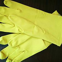 Перчатки хозяйственные  желтые  IDEAL