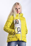 Женская куртка К-001 Желтый