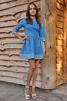 Женственное платье с богатой вышивкой
