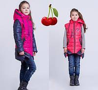 Детская куртка- жилет для девочки весна -осень