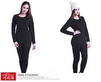 Термобелье, теплое женское белье Ashima (черный) 44