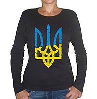 Женская футболка со стилизованным гербом Украины