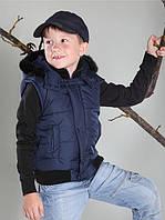 Демисезонная детская жилетка для мальчика