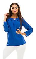 Блузка женская горох с украшением, фото 1