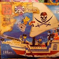 Конструктор пиратский корабль 304