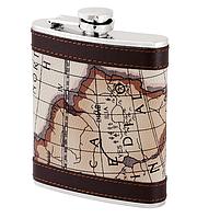ФЛЯГА 7B5-49-(7OZ), фляга-сувенир, фляга для напитков, фляга с картографией, фляга походная