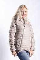 Женская куртка К-005 Бежевый