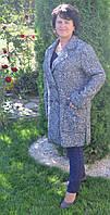 Кардиган женский Осень шерстяной больших размеров новинка  модель в размерах 50, 52, 54, 56, 58 серый