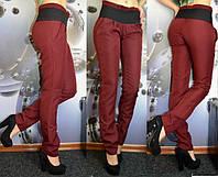 Бордовые женские брюки