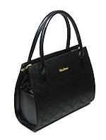 Стильная сумка женская к/з черная, синяя 15-40 Украина