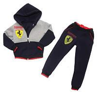 """Детский теплый спортивный костюм """"Ferrari"""", рост от 86 до 116 см"""