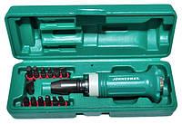 Набор ударных отверток SL 5, 6, 8, 10, 12 мм, PH# 1, 2, 3, 4, Hex 4, 5, 6, 8, 14 предметов JONNESWAY