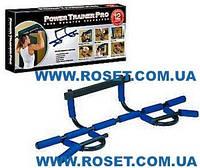 Турник - тренажер для дома  Power Trainer Pro 12 в 1 , черный цвет