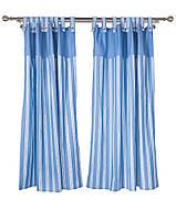 Комплект штор (2 шт.) Голубые полоски 140*170 см, арт. LT-GP01