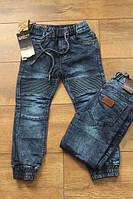 Детские джинсы на манжете Шнурок Размер 6 - 14 лет