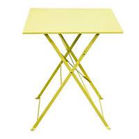 Стол садовый квадратный, складной, цвет желтый