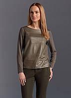 Женская трикотажная блуза цвета капучино в молодежном стиле. Модель Z07 Sunwear. Коллекция осень-зима 2017.
