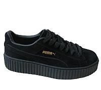 Кроссовки RIHANNA X PUMA SUEDE CREEPERS (черного цвета)