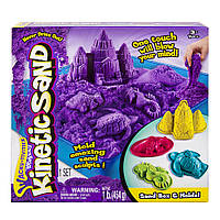 Игровой набор кинетический песок с пасками и песочницей  Kinetic Sand Wacky-tivities Sandbox and Molds