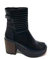 Зимние ботинки на каблучке натуральная кожа мех полушерсть размер:36,37,38,39,40